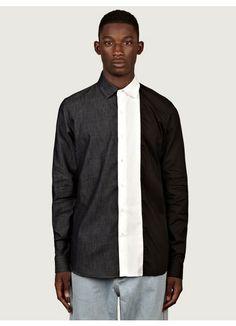 Christopher Shannon Men's Split Shirt via Oki Ni Sports Shirts, Kids Shirts, Stylish Mens Fashion, Stylish Menswear, Men Fashion, Christopher Shannon, Clothing Co, Modern Man, Shirt Designs