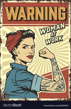Buy Female Power Retro Poster by imogi on GraphicRiver. Female power colorful retro poster with pin up strong attractive girl wearing bandana and mechanic uniform in vintage. Jazz Poster, Music Poster, Poster Retro, Poster Art, Retro Print, Pinup Posters, 80s Posters, Protest Posters, Retro Pop
