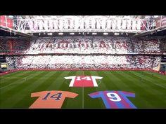 Ajax bewijst Johan Cruijff op indrukwekkende wijze de laatste eer - YouTube