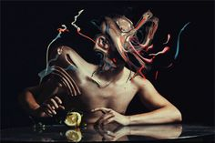 """""""Chile-based photographer Jon Jacobsen creates surreal photographic portraits that he distorts using digital illustration techniques. The works exist both as digital illustrations and animated GIF cinemagraphs."""""""