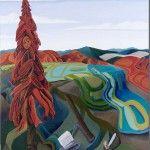 Lawrence Paul Yuxweluptun | unknown title Contemporary Landscape, Contemporary Artists, Modern Art, Western Landscape, Art Curriculum, Landscape Paintings, Landscapes, Indigenous Art, Winter Art
