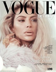 What a lady: The 37-year-old entrepreneur channeled the nineties in a furry coat with her ... #kardashians #coverstars