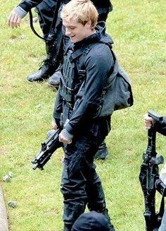 Josh Hutcherson on the set of Mockingjay on May 13th, 2014