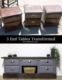 Ideas for old chunky nightstands