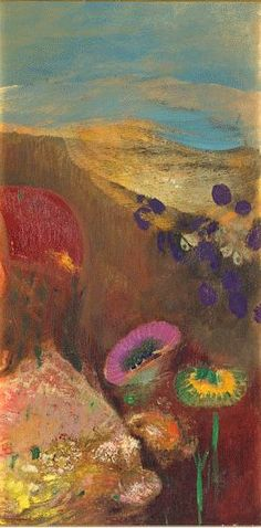 """The colors look like a veil of the sheerest silk......""""Strange Flowers"""" 1910, Odilon Redon (1840 – 1916), French symbolist painter, printmaker, draughtsman and pastellist."""