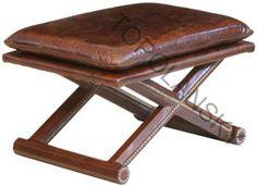 Leather Footstool www.topolansky.co.za