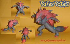 Paperpokés - Pokémon Papercrafts: ZOROARK - (Happy Halloween!) This.  This is beautiful.  wow. *faints* (zoroark is one of my favorites ;v; )  Zoroark pokemon, Zoroark papercraft, zoroark papercraft for kids