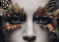 le cornacchie della moda: FEATHER MAKE UP FOR PARTY CORNACCHIE!!! Absolutely incredible