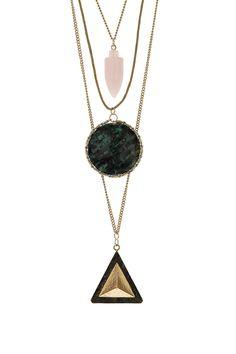 Shard Triangle Circle Necklace