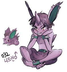 #32. Nidoran♂ (humanized/gijinka pokemon series by tamtamdi on tumblr)