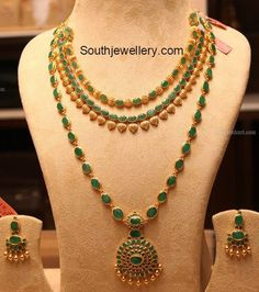 Emerald Necklace latest jewelry designs - Page 5 of 59 - Indian Jewellery Designs Silver Jewellery Indian, Indian Jewellery Design, Jewelry Design, Latest Jewellery, Temple Jewellery, Bridal Jewellery, Wedding Jewelry, Jade Jewelry, Emerald Jewelry