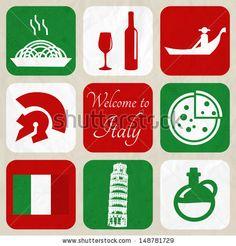Design Elements - Italy - stock vector