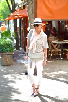Cool, Casual, & Comfortable in Fabrizio Gianni, crops, lace up flats, hats, cross body. Spring essentials!