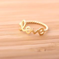 pure,  love ring with twristed band