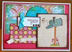 unity stamp company. kit used - Sending my Love - card created by unity design team member Christi Snow