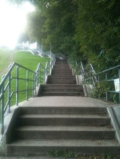 My favourite exercise in the spring/summer time is these stairs of death. They kill me but I love beating my score and getting in shape!