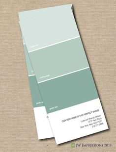 Paint Chips Moving Announcement - DIY PRINTABLE on Etsy, $15.00