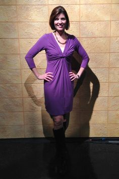 November 27th, 2014 - Happy Thanksgiving!  I decided to go with a purple fall hue rather than a brown or orange for the holiday.  Dress by Max Studio - think I bought it from Marshalls or TJ Maxx a few years ago.