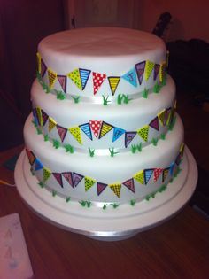 Festival theme wedding cake