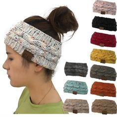 dcdc1fb09c9 Women Knitted Hat Turban Ladies Twist Head Crochet Caps Wrap Beanies Hair  Band  fashion