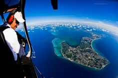 View of Grand Cayman from a helicopter- gorgeous and all, but I'll not be up in a helicopter to see that.  I'll stick with my ground level view.