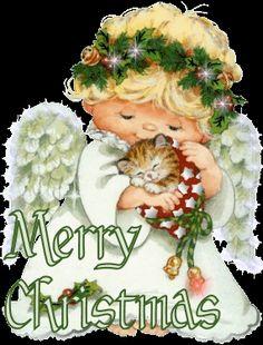 Coisas para o Natal: Gifs de Anjos de Natal Lindos