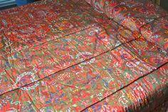 Ralph Lauren Consolateur - Galahad Paisley satin tissu - Twin taille couvre-lit couverture