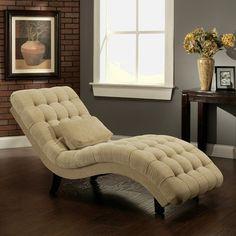 Abbyson Living Carmen Fabric Chaise Lounge | Wayfair
