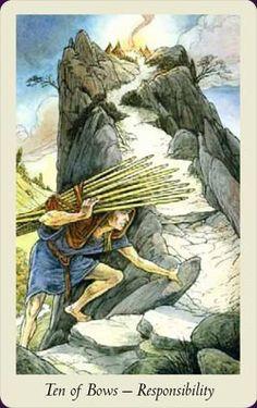 Ten of Bows - Responsibility - Wildwood Tarot