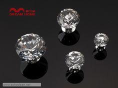 7176-20 20mm diameter $8.47 white K9 diamond crystal knobs for drawer cupboard