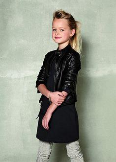 Baker Bridge Stoere kinderjack in kleur zwart. www.kienk.nl #stoer #meisjeskleding #bakerbridge #jacket