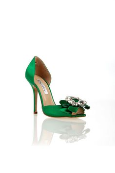 fall 2012, Oscar de la Renta, shoes, evening, green