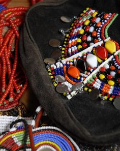 Evening bag with Maasai beading  © Anna Trzebinski