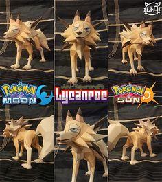 Paperized: Pokemon: Lycanroc Midday Form Papercraft