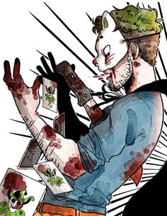 """Anti: """"How's that for a trick?P my favorite alter ego. Of course is my favorite, I just like to cover my favorites in blood and death. Jacksepticeye Fan Art, Markiplier Memes, Pewdiepie, Septiplier Fanart, Darkiplier And Antisepticeye, Youtube Gamer, Jack And Mark, Epic Art, Best Youtubers"""