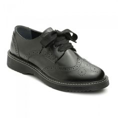 e47c282226574 Details about Startrite Impulsive Girls Black Brogue School Shoes Size 34  35 36 37 38 39 40 41
