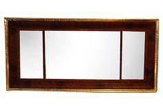 1840's Mahogany and Gold Leaf Mantel Mirror on Chairish.com