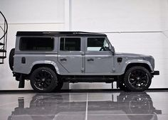 Land Rover Defender 110 Td4 Sw Se customized - The factory finish from the Urban Paint team ... Full colour change in Nardo Grey .