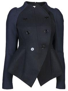 CARVEN Two tone coat