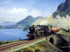 pictures of steam locomotive trains | Art Train Journeys : Steam Train Painting by Howard Fogg 33 : Howard ...