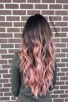 Pink Blonde Hair, Ombre Blond, Pink Ombre Hair, Hair Color Pink, Fall Hair Colors, Blonde Color, Hair Colors For Summer, Unique Hair Color, Brown To Pink Ombre