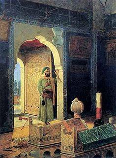 Dervish in the Children's Tomb (1908) by Osman Hamdi Bey, via Flickr.