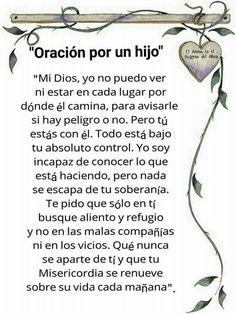 Oración a un hijo.