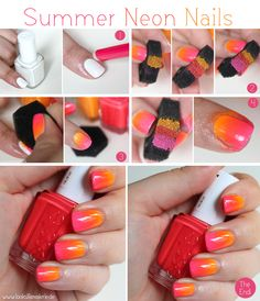 [Tutorial] Summer Neon Nails - Neon Gradient/Ombré Nails