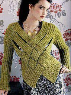 Knitting PDF pattern , Pullover Sweater knit pattern , <a Tunisian Crochet Patterns, Crochet Stitches, Knitting Patterns, Knit Crochet, Tricot D'art, Crochet Fashion, Crochet Clothes, Pulls, Hand Knitting