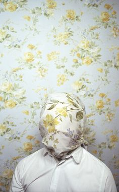 This is how I feel today. I hope no one notices me and I can blend into the wallpaper! :)