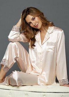 Satin Pyjama Set, Satin Pajamas, Pyjamas, Pajama Set, Pajamas For Teens, Cute Pajamas, Pajamas Women, Silk Underwear, Olivia Von Halle