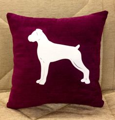 Boxer Dog Cushion, Add Any Name To The Cushion Here http://www.chic-shack.com/personalised-boxer-dog-cushion-122-p.asp