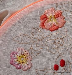 Bluebird Floral: More flowers   embroidery for ducks