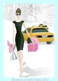 Shopping in the City illustration by SANDY M ... SANDY M has a new website, shop and new wordpress blog! www.sandymillustration.com